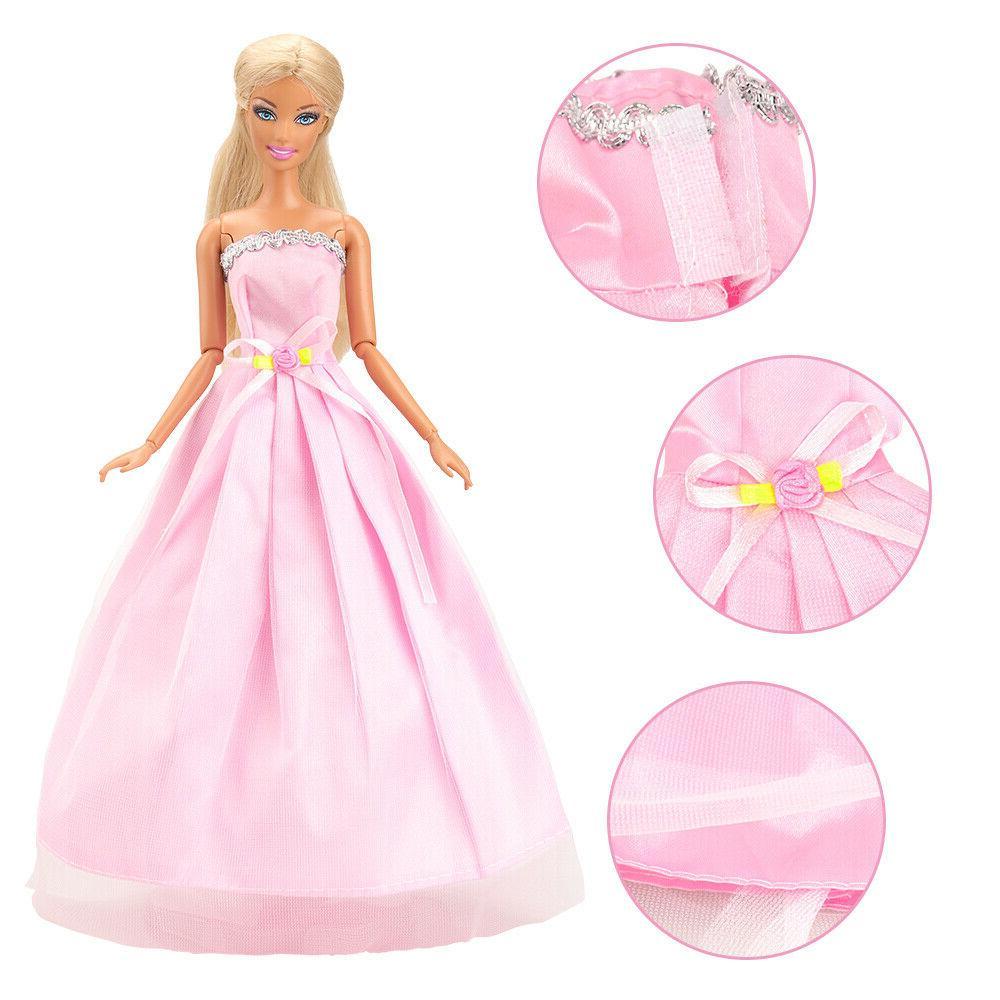 Barwa Items/Set Doll Accessories Random Dresses +40
