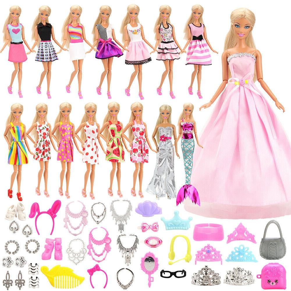 fashion 55 items set doll accessories clothes