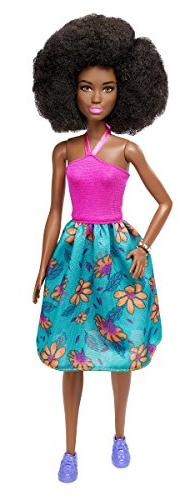 Barbie Fashionistas 59 Pink Halter Floral Skirt Doll