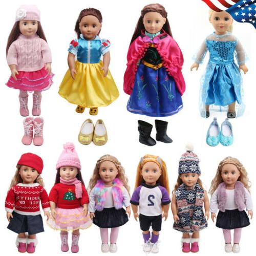 """Fits American Girl 18"""" Princess Dress 18 Inch Doll Clothes C"""