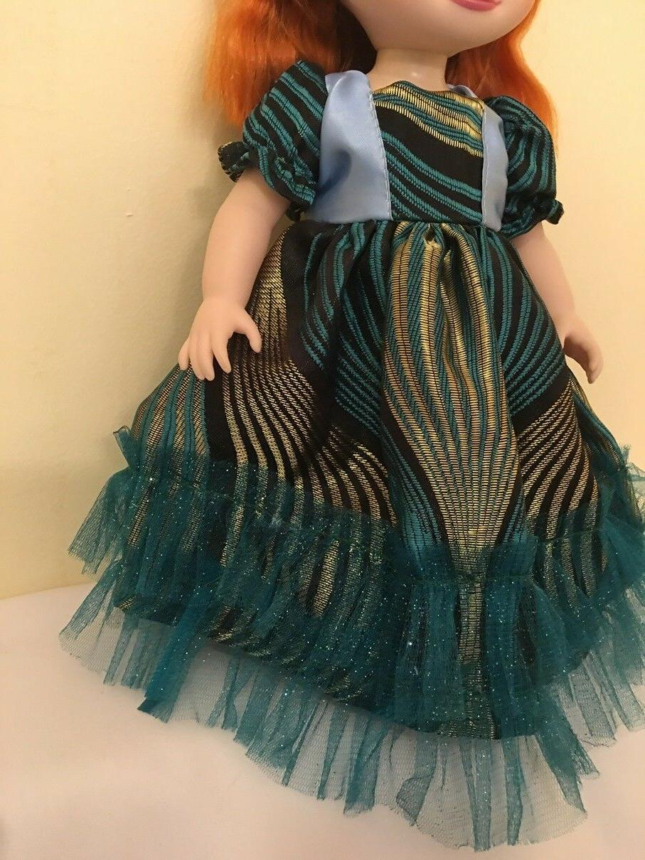 Fits Disney Animators Doll Clothes Toddler Prom Blue Gown Only