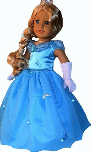 American Girl Doll Clothes Cinderella Inspired Costume Set for 18 American Girl Dolls
