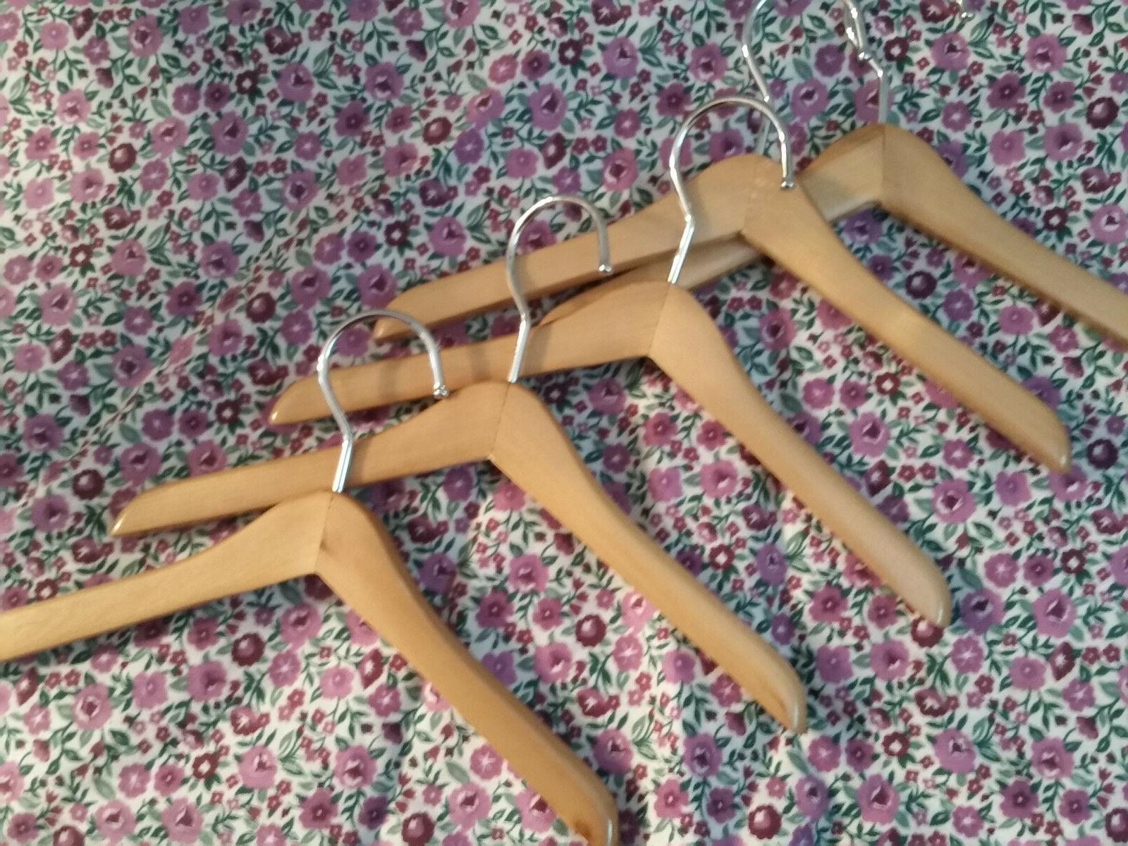 """FIVE  8"""" Smooth-Wooden Hangers-Fit-16-20""""Dolls-Any American"""