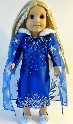 18 inch doll clothes frozen elsa dress
