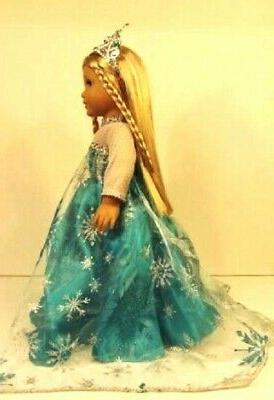 18 Doll ELSA DRESS CROWN fits American Girl