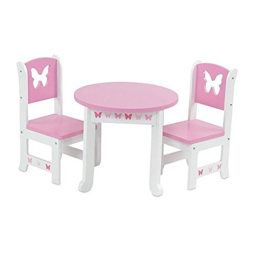 furniture lovely pink white table