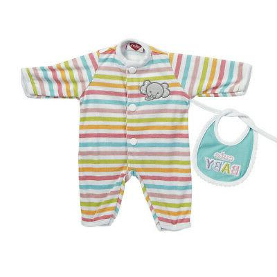 Adora Giggle Baby Doll Outfit Stripe Elephant