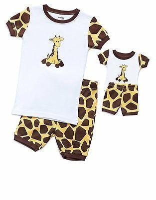 giraffe matching doll and kid short 2