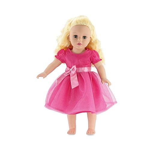 gorgeous pink party dress includes