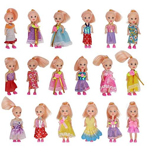 Huang Cheng Toys Pack of 10 Doll Colorful Costume