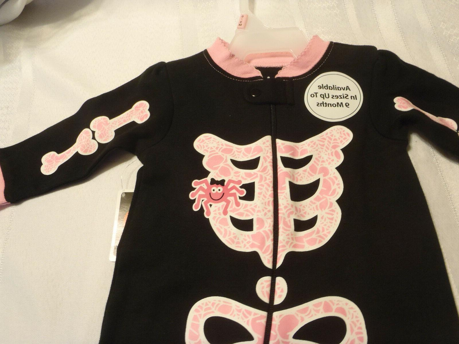 Halloween Girls 0-3 Month Choice Sleepwear or