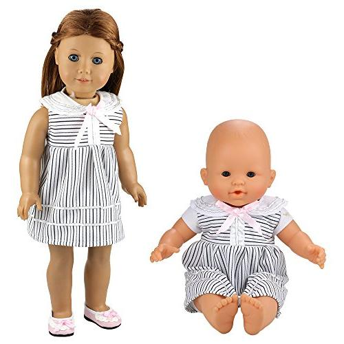 BARWA Dresses Costume for 14 16 Inch Doll and