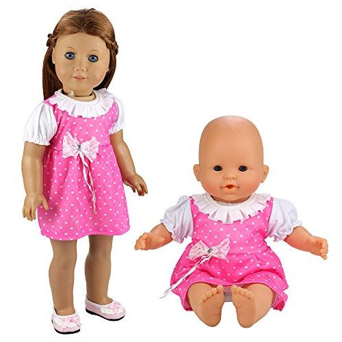 BARWA 5 Dresses Costume for 16 Doll and 18 Inch