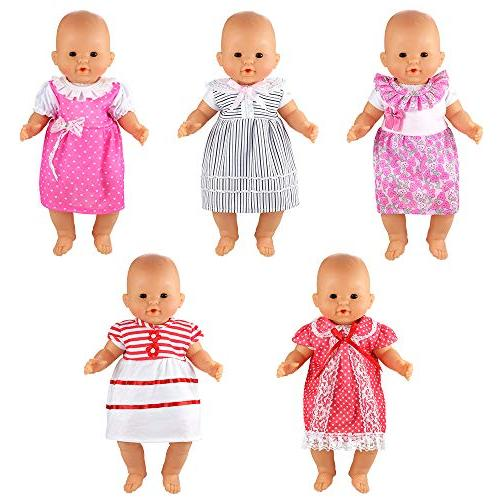 BARWA Handmade Dresses Clothing Lovely Costume for to 16 Inch and 18
