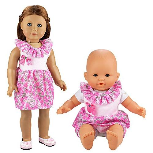 BARWA Handmade 5 Dresses Costume 14 16 Inch Doll and 18 Doll