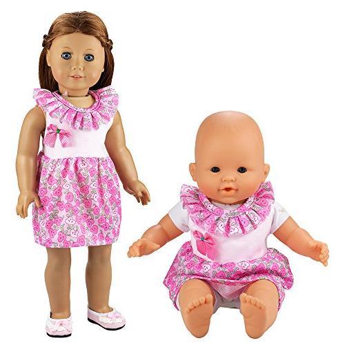 BARWA Handmade 5 Dresses Costume 14 16 Inch Doll and 18 Doll