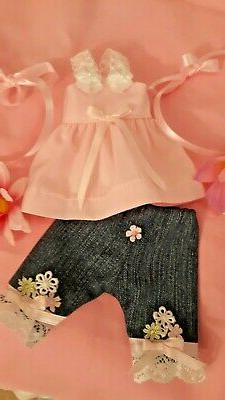 """HANDMADE DOLL CLOTHES FIT A,G, 14"""" WELLIE WISHERS & GLITTER"""
