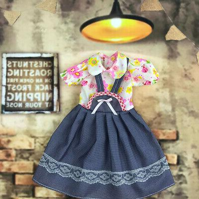 Handmade Fashion Doll Lace Stitching Casual Dress for 18 Girl Dolls