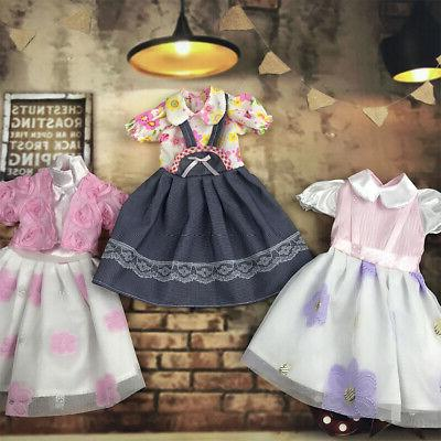 handmade fashion doll clothes lace stitching casual