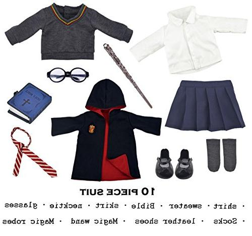 "ebuddy Hermione Inspired Doll Clothes Outfits for American Girl Dolls and 18/"" Do"