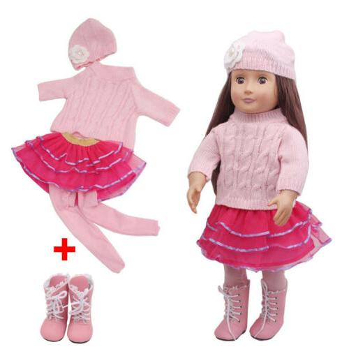 Hot~ Doll 43cm Baby Dolls Handmade Clothes Dress US