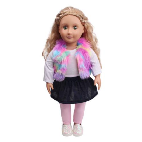 "Hot~ 18"" inch Doll Handmade fashion Clothes Dress"