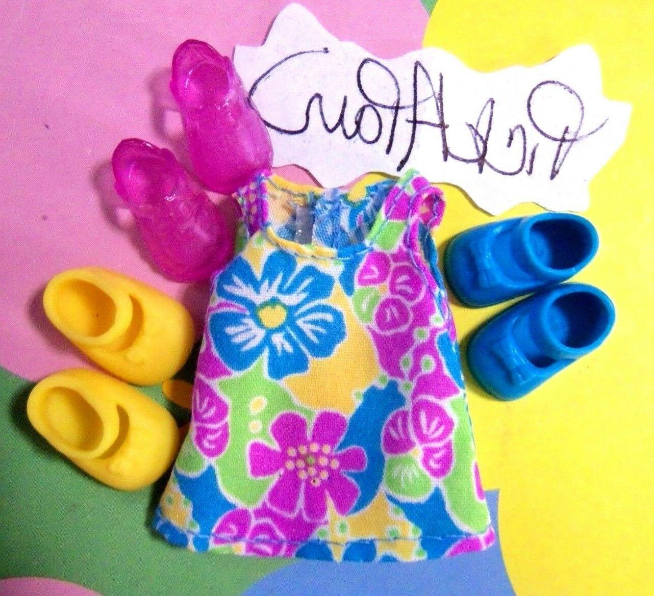 Kelly Chelsea Doll Clothes Gorgeous Hawaiian Hibiscus Dress PIK A Pr Shoes READ!