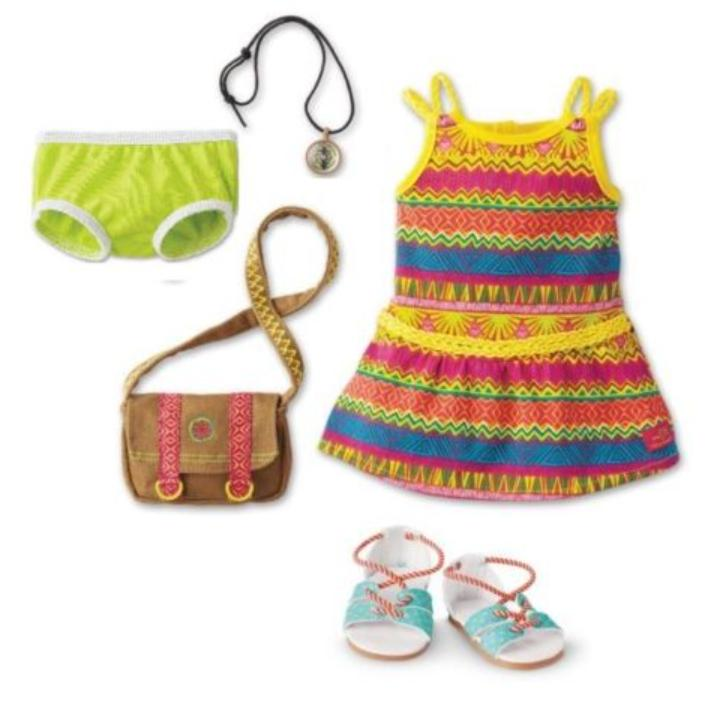 American Girl Lea's Meet Tropical Adventure Dress Outfit for