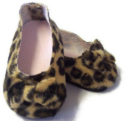 leopard print bow shoes made for 18