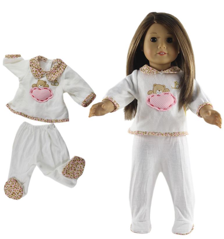 Many <font><b>Sleepwear</b></font> Choice 1 Set <font><b>Clothes</b></font> Top+pants for inch American <font><b>Doll</b></font> High <font><b>clothes</b></font>