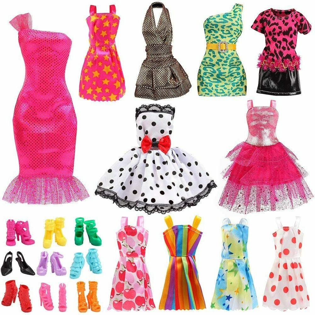Barb Little Doll Clothes Set Outfits Handmade Party Casual D