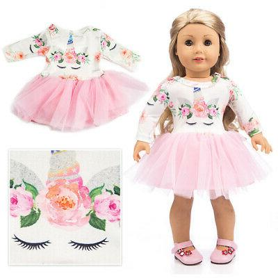 US Handmade Sweet Doll Clothes Princess Dress 18 inch for Am