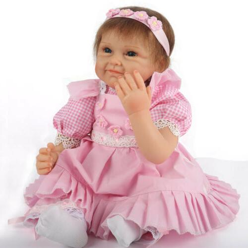 "Newborn 22"" Handmade Lifelike Baby Doll Reborn Silicone Viny"