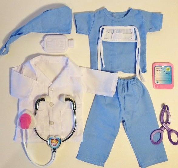 NURSE, DOCTOR American Inch Doll Clothes 8 Piece Set