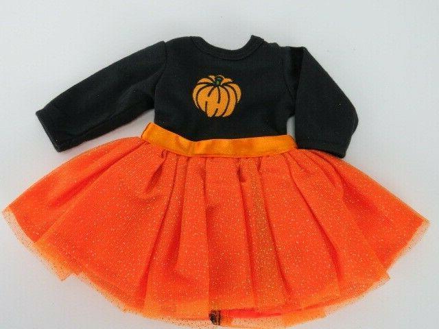 Orange Halloween Pumpkin For American Doll