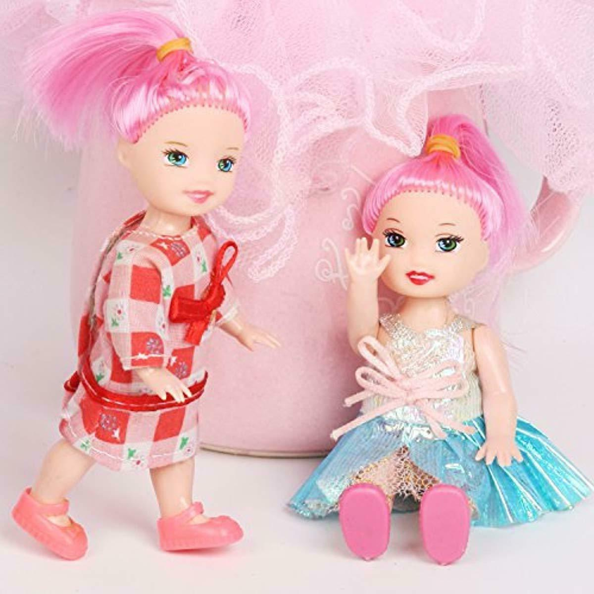 Huang Pack of 4'' Doll with Costume