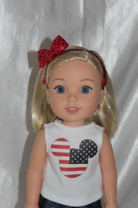 Patriotic 14inch Wishers Doll