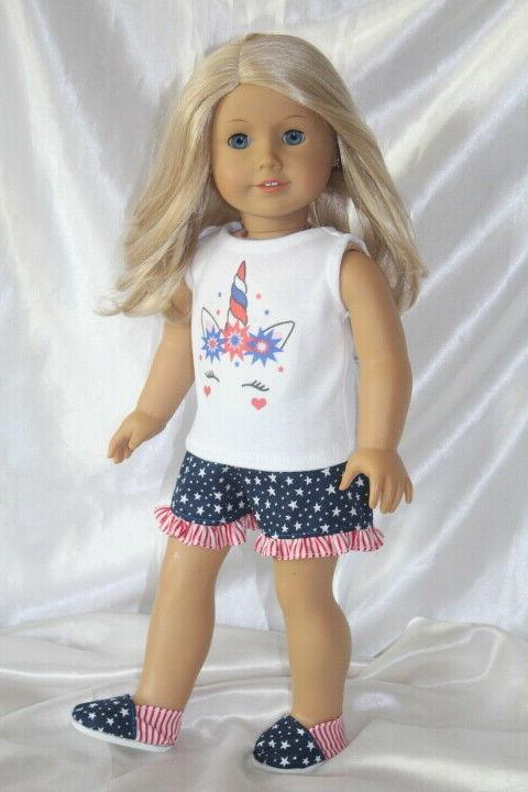 patriotic dress outfit fits 18inch american girl