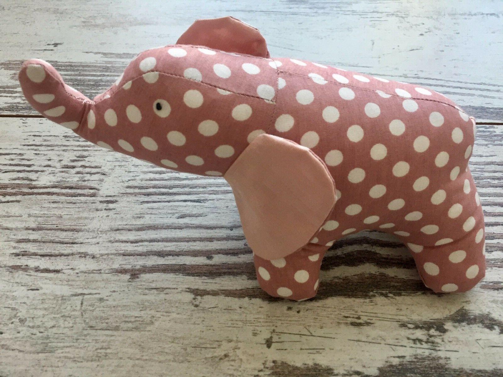 Handmade Pink Natural Fabric Stuffed