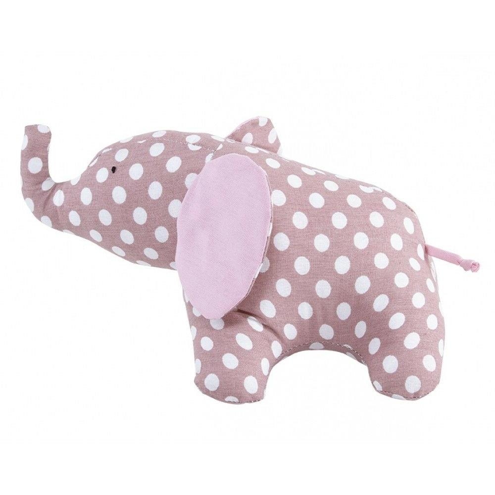 pink elephant natural fabric textile cloth doll