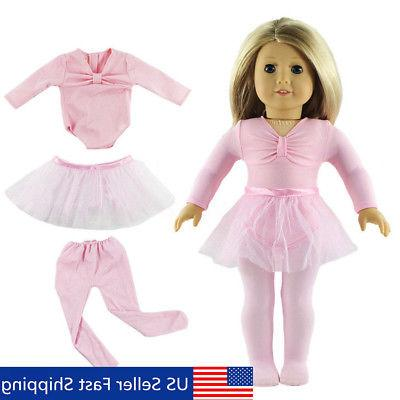 Pink Fashion Handmade Doll Clothes Ballet Dress Fit for 18''