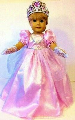 """Pink PRINCESS DRESS Fits 18"""" American Girl Doll Clothes Cost"""