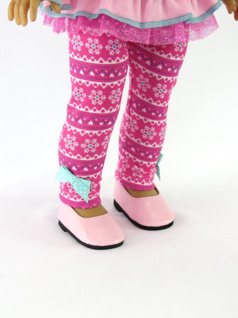 Pink Snowflake Pant Set Girl