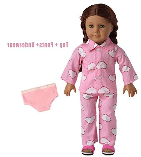pink sleepwear pajamas fits american