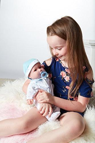JC La 16-inch Washable Soft Body Blue For Children Or Older, Berenguer