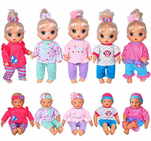 5-Pack Playtime Baby /12-inch Alive Baby Dolls Born Baby