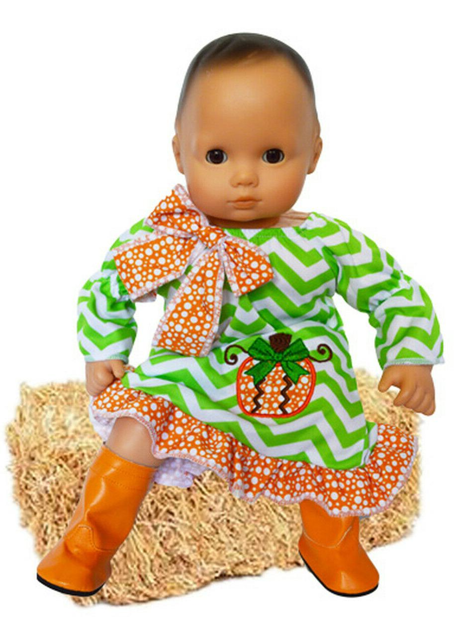 pretty pumpkin outfit for bitty baby bitty