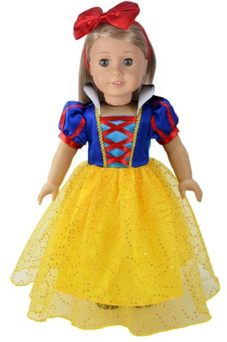 Ebuddy Princess Custome Inspired By Snow White Doll Clothes