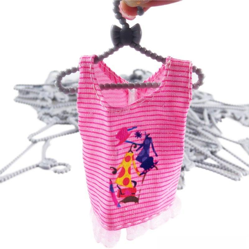Random <font><b>Doll</b></font> Gray Hangers Accessories Girls' Toys 12 <font><b>Dolls</b></font>