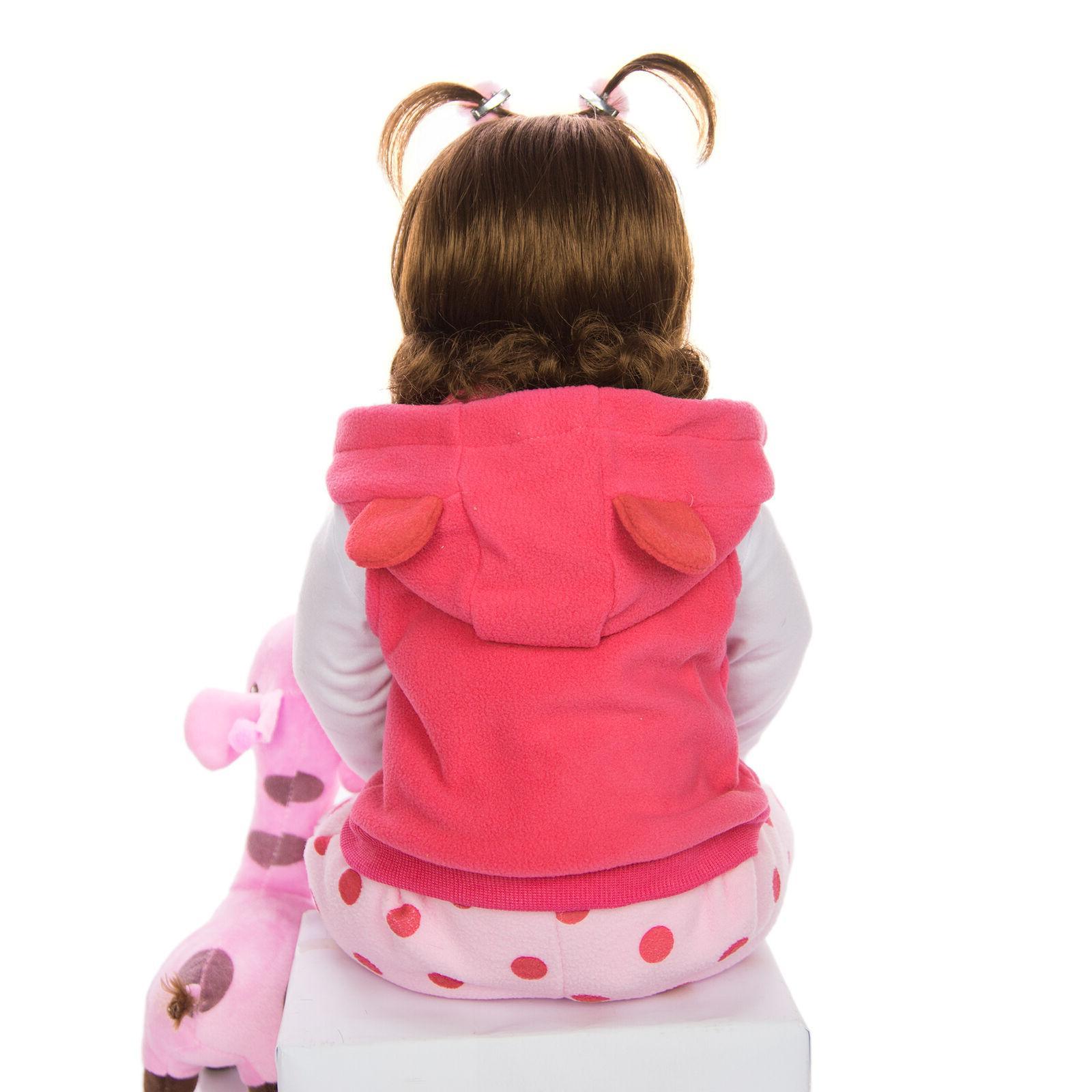 Reborn Baby Doll Toy Cloth Body Toddler
